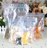 Precio de Bolsas de plástico para alimentos-Espesar plástico claro Poli OPP Embalaje Bolsas Tire bolsa hueso joyería caramelo Alimentos PVC bolsa de plástico Se Puede Personalizar 100pcs LOGO / Lot liberan