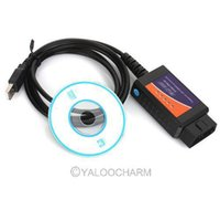 Wholesale ELM327 USB Interface OBDII OBD2 Diagnostic Connectors Auto Car Scanner Scan Tool Cable v1