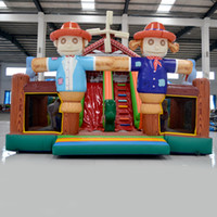 backyard equipment - AOQI amusement park equipment cheap price outdoor cartoon figure printing giant inflatable Scarecrow house for kids for sale made in China