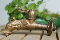 Wholesale Dragon Animal shape garden Bibcock Rural style antique bronze Dragon tap with Decorative outdoor faucet for Garden