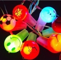 Wholesale children Christmas gift LED whistle light cute whistle LED Competition World Cup Whistle event party supplies