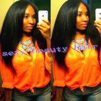 kinky straight full lace wigs - Unprocessed Brazilian Coarse Yaki Kinky Straight Lace Wigs Virgin Afro Kinky Straight Human Hair Full Lace Lace Front Wig Density