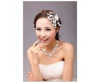 Wholesale Wedding accesories bridal jewelry set Bride wedding dress necklace set with earring women dress decoration bride jewelry set 01