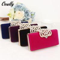 Wholesale Luxury Party Handbags Vintage Wedding Bridal Hand Bags Crystal Golden Smart Clutch Bag Fashion Design Minaudiere Handbag Colours Option