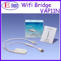 Wholesale 5pc White Vonets VAP11N RJ45 WIFI Bridge For Dreambox Openbox Skybox Wifi Adapter Reapter