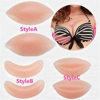 silicone gel breast - Best Sales New Pair Bra Breast Insert Care Enhancers Push Up Pads Silicone Gel Beauty CX111