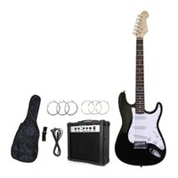 Wholesale Chinese LP Black Electric Guitar Full Size with Accessory guitar bag belt W amplifier cable picks China Guitars Stock in US