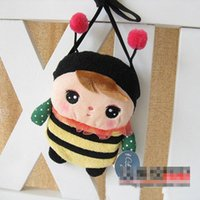 big computer bag - 60 computer cartoon Metoo plush toys wallet insects animals girl inclined shoulder bag children change a mobile phone