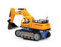 Wholesale Electric Excavator Universal Music Light Demonstration Project Model Toy Car For Children