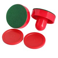 Wholesale New Air Hockey Table Felt Pusher with Puck Air Hockey Accessories Tool Red