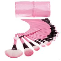 Wholesale 2016 Hot saling Professional Makeup Brushes tech Make Up Brushes Cosmetic Brush Set Kit Tool Roll Up Case free