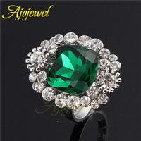 Cheap 010 Green Red Color For Choose Size 7-9 Fashion Top Of Finger Anial The Midi Crystal Finger Ring