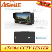 probador de la cámara de CCTV AT430A con Audio Video Seguridad CCTV probador de la cámara del monitor de instrucciones 4.3
