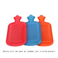 Wholesale 11 Inches ML Capacity Double Faced Anti hot Large Soft Thick Rubber Hot Water Bag Warm Water Bottle Hand Warmers
