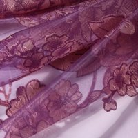 Wholesale Europe Style Purple Color Room Floral Peony Pattern Voile Window Curtain K5BO