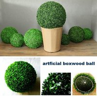 Wholesale 2015 New Artificial Plastic Milan Grass Plant Kissing Ball Hanging Craft Ornament For Home Garden Wedding Centerpiece Decoration Supplies