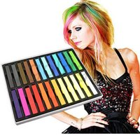 Wholesale 24 Colors Fashion Hot Fast Non toxic Temporary Hair Chalk Dye Soft Pastel DIY mix color
