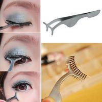 cosmetic eyelash - 1pc False Fake Eyelashes Clip EyeLash Curler Applicator Eye lash Aid Clip Forceps Beauty Makeup Cosmetic Tool