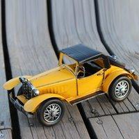 Wholesale Metal classic vintage car models mixed batch of retro car model metal crafts decorative bar