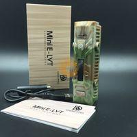 Wholesale Authentic Dovpo Mini E Lvt Elvt W Box Mod E Cig Variable Voltage Wattage Mod Waterproof Shock Pressure Resistant Fit SMOK TFV4 Mini