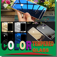 mirror - Colorful Screen Protector Tempered Glass For Iphone Iphone Color Plating Mirror colorful front and back Glass Film With Retail Package