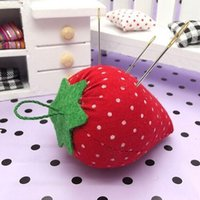 sewing needle - Cute Strawberry Hanging Pin Cushion Pin Ball DIY Sewing Accessories Strawberry sewing Needle Pin Cushions