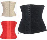 Cheap Sexy Upgrade Shapewear Women Full Steel Boned Waist Training Corset Underbust Bustier Free Shipping 3 Colors Size S--2XL