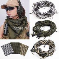 women muslim scarf - Military Windproof Spring Scarf Men Muslim Hijab Shemagh Tactical Shawl Arabic Keffiyeh Scarves Cotton Fashion Scarf women