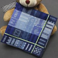 Wholesale 48 cm high quality jacquard men handkerchief boutique male cotton handkerchief