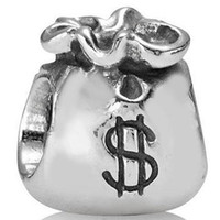 Metals bag fund - 925 Sterling Silver Charm Money Bag Fund Sources European Floating Charms Silver Beads For Snake Chain Bracelet DIY Jewelry