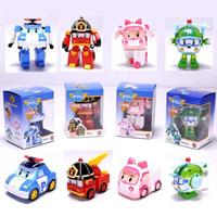 Wholesale hot deformation car poli Robocar bubble toys models South Korea Poli robot transformer car Helly Amber Roy
