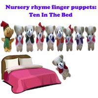 baby bedding world - Retail World Nursery Rhyme quot Ten in the Bed quot Plush Finger Puppets For Kids Students Talking Props Baby Toys