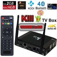 Wholesale 2G G Android TV Box K3 KIII Mini PC UHD K OTT Amlogic S905 Quad Core G G Wifi M LAN Bluetooth Kodi D Movie Media Player