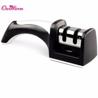 Wholesale Hot Black Stages Ceramic Steel Knife Sharpener Sharpening Stone Kitchen Knives Tools