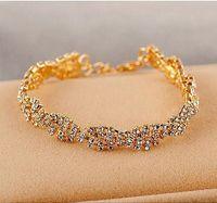 accents gift box - 1 Fashion Diamond Sapphire Diamond Accent Infinity Bracelet Bangle Jewelry for Women High Quality