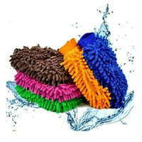 Wholesale Universal Car Styling Hand Brush Double Side Clean Microfiber Chenille Sponge Glove DIY Care Cleaning Maintenance Tool Colors