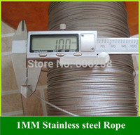 Wholesale Stainless Steel Wire Rope fishing Rope MM Lift Racks Rope Clothesline Traction rope Meter