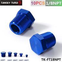 Wholesale Tansky quot NPT Aluminum Hex Head Male Port Plug Block Off Fitting Adapter Blue TK FT18NPT
