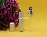 mini perfume atomizer - 2015 ml metal Mini Perfume Bottle For Travel Empty Refillable Spray Scent Atomizer Glass Bottle Cosmetic Hot Sellings
