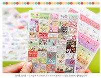 Wholesale Freeshipping Cute Lovely Large glasses rabbit transparent diary sticker diary album stickers