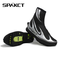 thermal protector - SPAKCT Pro Reflective Thermal Windproof Waterproof PU Note Thin Fleece Bike Bicycle Cycling Shoe Toe Protector Warmer Boot Cover