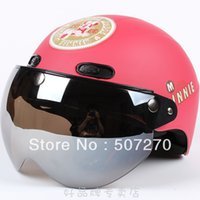 apple taiwan - B Taiwan quot EVO quot ABS Cycling Open Face Motorcycle Matte Light Red quot Minnie quot Apples Helmet amp UV quot
