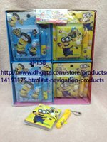 Wholesale Sets Despicable Me Children Cartoon Notepad With Ballpoint Pen Stationery Set X8cm