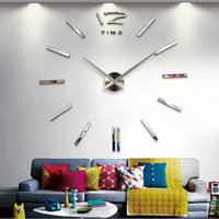 Wholesale Home decoration wall clock big mirror wall clock Modern design large size wall clocks diy wall sticker unique gift