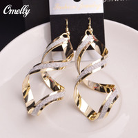Wholesale Jewelry K Gold Filled rotate Designer Dangle Ear Earring Gift for Women Party Wedding Jewelry Dangle Earrings
