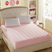 Wholesale New Arrival hot sale pink bed mattress protective cover with fillings pad mattress topper