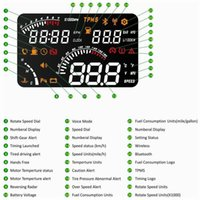 hud - 4 HUD Intelligent voice car head up display HUD wilress bluetooth version alarm all status in time for drivers