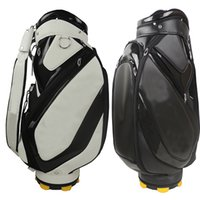Wholesale 2015 hot New Tay golf bags high quality PU Mens golf bag EMS ship black white
