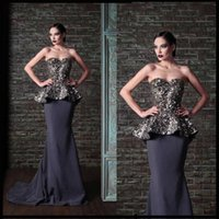 Cheap Alluring Sexy Sequins Shining Prom Dresses Evening Dresses with Peplum Sweetheart Sheath Column Backless Sexy Formal Dresses Gowns 2015