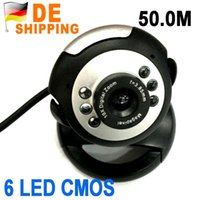 Wholesale DE Stock To DE Hot Sale USB M LED PC Camera HD Webcam Camera Web Cam with MIC for Computer PC Laptop DHL Free order lt no